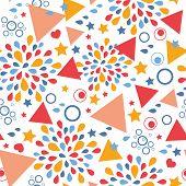 Abstract celebration seamless pattern background