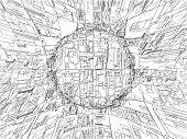 Abstract Urban City Vector