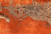 Antique Damaged Orange Plaster Texture