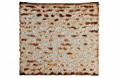 stock photo of slavery  - Traditional Jewish Matzo sheet on a Passover Seder table - JPG