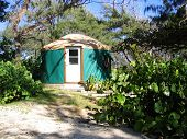 Hawaii Beach Camping in Yurt