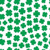Four Leaf Clover Seamless Pattern
