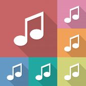 Icon of music note