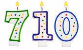 Candles Number Seven Hundred Ten