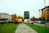 Vilnius City Pasilaiciai District At Autumn Time