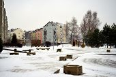 Vilnius City Pasilaiciai District New House And Cars