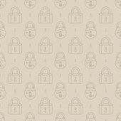 stock photo of jimmy  - Seamless pattern with old padlocks vector background - JPG