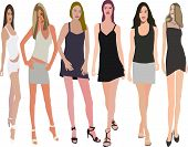 Posing women -   illustration