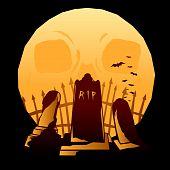 Full moon graveyard