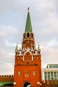 View On Kremlin Castle In Moscow