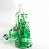 Studio Captured Green Bottles