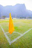 Painted Football/soccer Corner Spot Lit