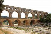 Vista de Pont Du Gard en Francia