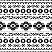 image of tribal  - Tribal striped seamless pattern - JPG