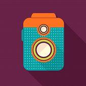 Retro Camera Icon.