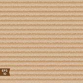 Seamless Corrugated Cardboard Texture.