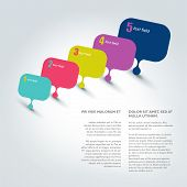 Speech Bubble Template. Numbered Chart. Infographic Element.