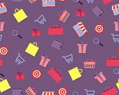 Background shopping. Vector seamless pattern