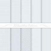 stock photo of pattern  - Set of ten subtle seamless patterns - JPG