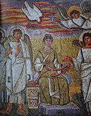 Byzantine mosaic  in Basilica di Santa Maria Maggiore