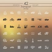 Set of transport icons