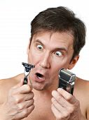 Man Chooses Razors