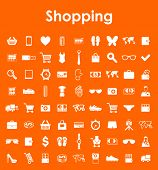 Set of shopping simple icons