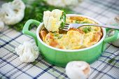 Cauliflower Baked With Egg And Cheese