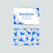 Business Cards Template Blue Paint