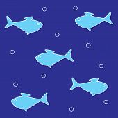 Background With Blue Fish