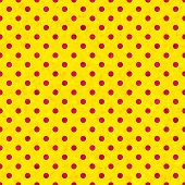 Polka dot seamless pattern old paper texture. Seamless background