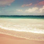 Square Colorful Sea Landscape. Atlantic Ocean Coast