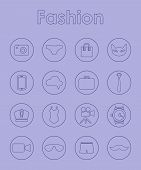 Set of fashion simple icons