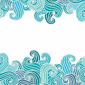 Hand Drawn Wavy Modern Background.