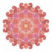 Mandala. Ethnic Lace Round Ornamental Pattern.