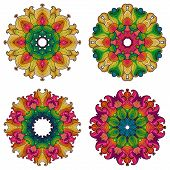 Set Of Four Mandalas.