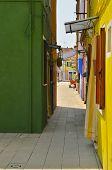 Colorful Burano Alley
