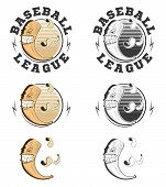 Set Of Vector Baseball Labels And Badges.