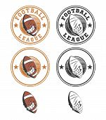 Set Of Vector Football Labels And Badges.