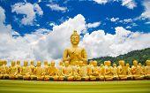 stock photo of buddha  - Buddha at Buddha Memorial park Nakorn nayok Thailand - JPG