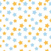 Star pattern in blue and orange colors