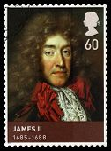 King James Ii Used Postage Stamp