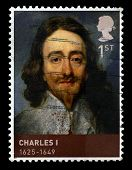 King Charles I Used Postage Stamp