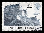 Edinburgh Castle Used Postage Stamp