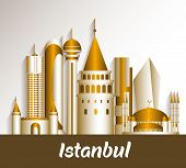 City of Istanbul Turkey Famous Buildings