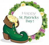 Leprechaun Shoe With Gold Coins
