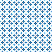 Tile blue and white mosaic vector pattern