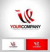 Letter V Logo Design