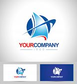 Boat Logo Design Vector