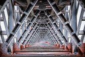 Interior view of iron bridge